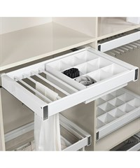 Alumınıum Drawer and Trouser Rack 90cm SC S-6706