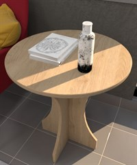 Cırcle Coffee Table 60x60x65 MFC