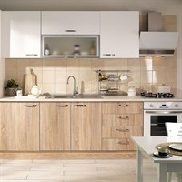 Cooke & Lewis Andalusia White Oak Built-in Ready Kitchen Cabinet