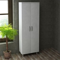 Decorister Arizona 2 Covered Multipurpose Cupboard White