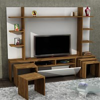 Dekorister Dante Tv Unit White / Walnut