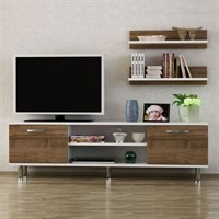Dekorister Derma Tv Unit White-Walnut