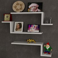 Dekorister Lowa Wall Shelf White