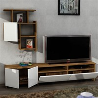 Dekorister Mariposa Tv Unit Walnut / White