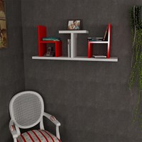 Dekorister Sense Wall Shelf White / Red