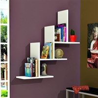 Minar Furniture 3T Wall Shelf White