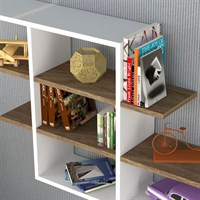 Minar Furniture Core Wall Shelf Walnut White