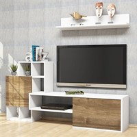 Rinaldo Tv Unit White Walnut - TP