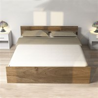 Sude Double Bedstead White Walnut NG