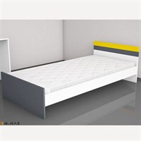 Minar Furniture Swan Single Bed Bedroom White Anthracite