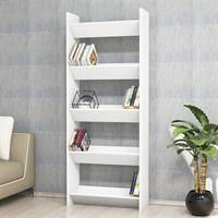 Minar Furniture Trigon Bookcase White