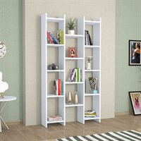Minor Furniture Teo Rio Bookcase Naturel White