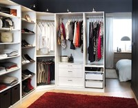The 3-door 5-drawer wardrobe White